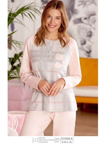 pretty cool new images of on sale Pierre Cardin PC7443 Patlı Bayan Pijama Takım
